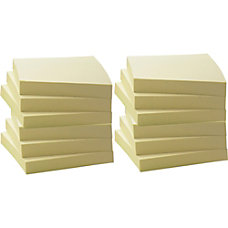 Business Source Yellow Adhesive Notes 3