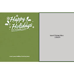 Flat Photo Greeting Card From Our