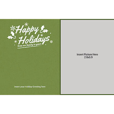 Flat Photo Greeting Card, From Our Family To Yours, Horizontal