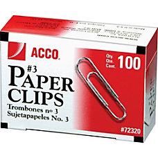 ACCO Economy Paper Clips No 3