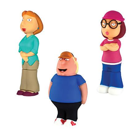Family Guy USB 2.0 Flash Drive, 8GB, Lois/Chris/Meg, Pack Of 3