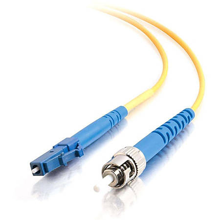 C2G 15m LC-ST 9/125 OS1 Simplex Singlemode PVC Fiber Optic Cable (LSZH) - Yellow