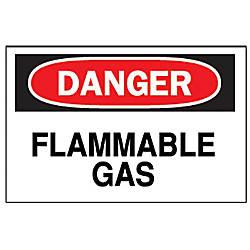 FIBERGLASS 10 X14 DANGER FLAMMABLE GAS