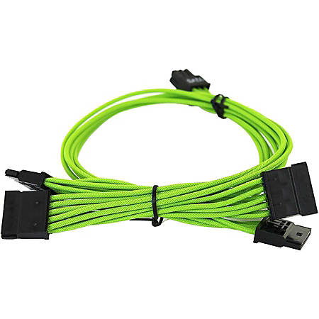 EVGA 1000-1300 G2/G3/P2/T2 Green Power Supply Cable Set (Individually Sleeved) - For Power Supply - Green