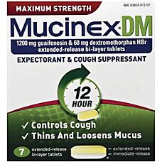 Mucinex DM Cough Tablets For Cough