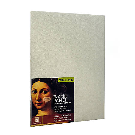 "Ampersand Artist Panel Canvas Texture Flat Profile, 9"" x 12"", 3/8"", Pack Of 2"