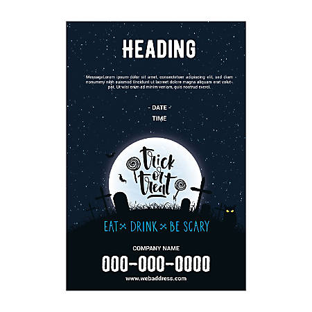 Plastic Sign Template, Halloween Moon, Vertical