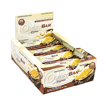 Quest Protein Bar S'mores, 2.1 oz, 12 Count