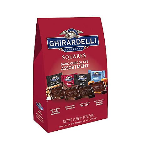 Ghirardelli® Chocolate Squares, Premium Dark Chocolate Assortment, 14.86 Oz Bag