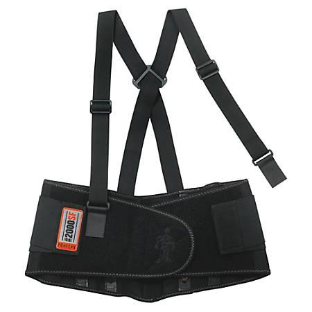 """ProFlex High-performance Back Support - Adjustable, Strechable, Comfortable - 30"""" Adjustment - Strap Mount - 8.5"""" - Black"""