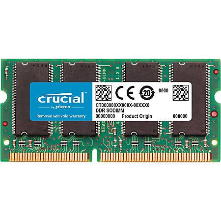 Crucial 16GB (1 x 16 GB) DDR3 SDRAM Memory Module - For Notebook - 16 GB (1 x 16 GB) - DDR3-1600/PC3-12800 DDR3 SDRAM - CL11 - 1.35 V - Non-ECC - Unbuffered - 204-pin - SoDIMM