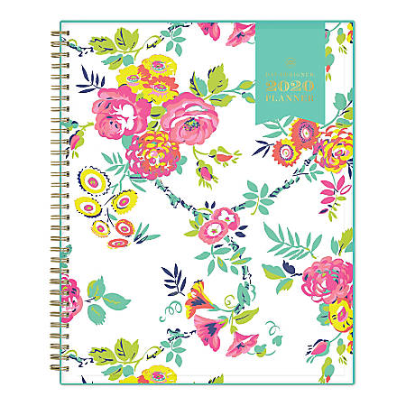 "Day Designer Peyton Weekly/Monthly CYO Planner, 8-1/2"" x 11"", White, January To December 2020, 103618"