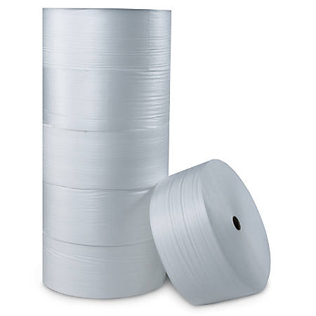 "Office Depot® Brand Foam Roll, 1/2"" x 72"" x 250', Slit At 12"""
