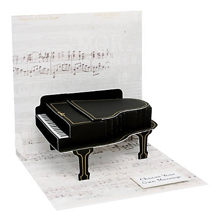 "Up With Paper Everyday Pop-Up Greeting Card, 5-1/4"" x 5-1/4"", Baby Grand Piano"