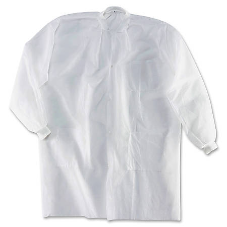 Impact Products PolyLite Labcoats - Extra Large (XL) Size - White