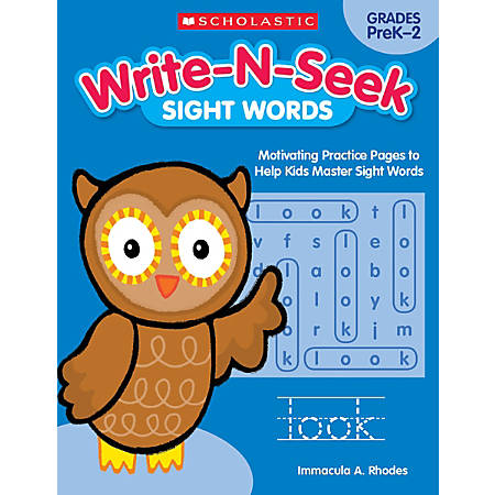 Scholastic Teacher Resources Write-N-Seek Workbook, Sight Words, Pre-K - Grade 2