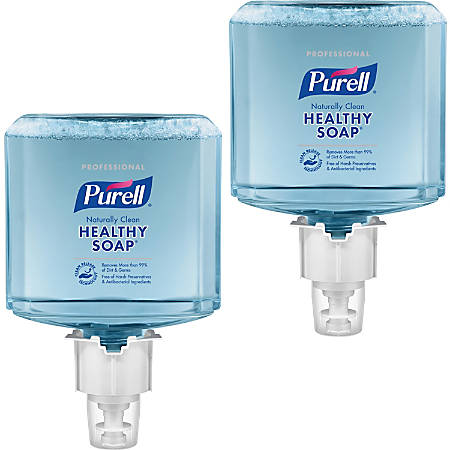 PURELL® ES4 Refill HEALTHY SOAP Foam - 40.6 fl oz (1200 mL) - Dirt Remover, Kill Germs - Skin - Blue - Bio-based, Preservative-free, Paraben-free, Phthalate-free, Dye-free, Hypoallergenic - 2 / Carton
