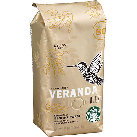 Starbucks® Veranda Whole Bean Coffee, 16 Oz Bag