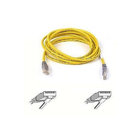 Belkin Cat. 5E UTP Patch Cable - RJ-45 Male - RJ-45 Male - 10ft - Yellow