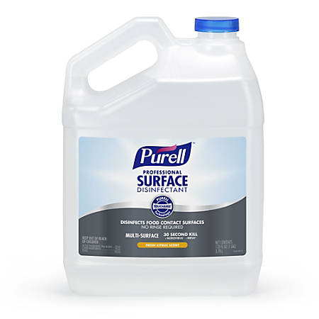 Purell® Professional Surface Disinfectant, Fresh Citrus, 1 Gallon Refill, Case Of 4