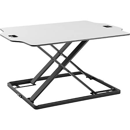 Amer Mounts Ultra Slim Height Adjustable Standing Desk- White Finish