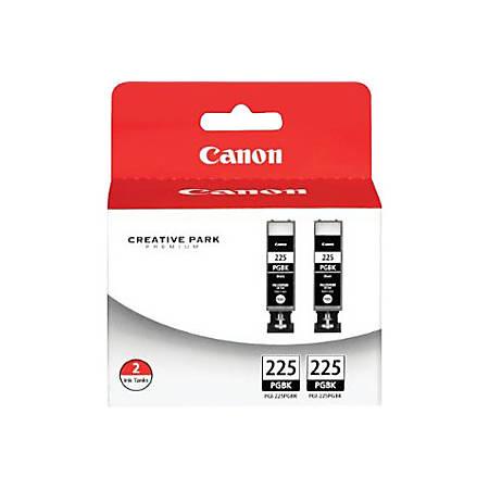 Canon PGI-225 ChromaLife 100+ Black Ink Tanks (4530B007), Pack Of 2