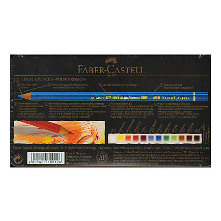 Faber-Castell Polychromos Colored Pencils, Set Of 12