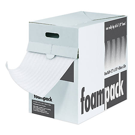 "Foam Roll Dispenser Pack, 1/16"" x 12"" x 350', Perf At 12"""