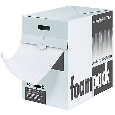 """Foam Roll Dispenser Pack, 1/4"""" x 24"""" x 85', Perf At 12"""""""
