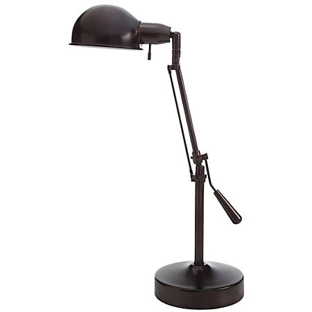 """Realspace™ Pharmacy Lamp, 24""""H, Aged Bronze"""
