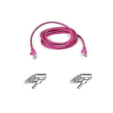 Belkin Cat. 5E UTP Patch Cable - RJ-45 Male - RJ-45 Male - 1ft - Pink