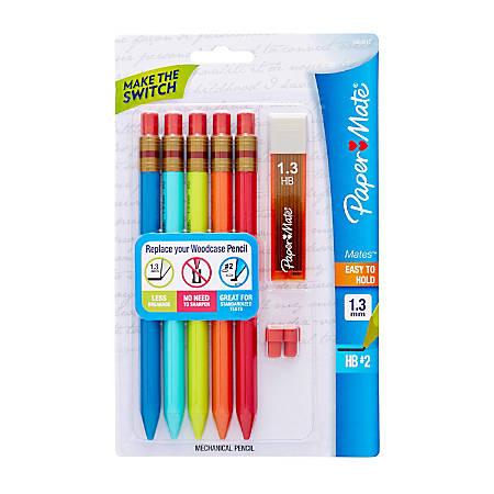 Paper Mate® Mates Mechanical Pencil Starter Set, 1.3 mm, Assorted Barrel Colors