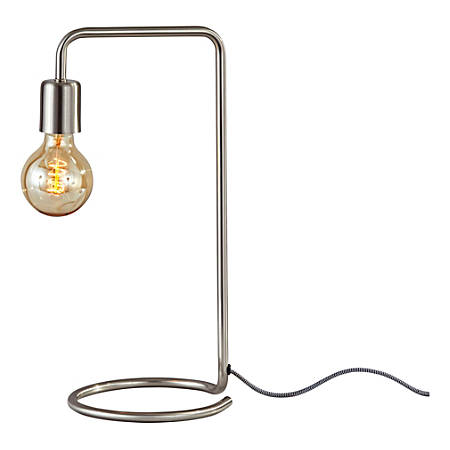 "Adesso® Morgan Desk Lamp, 16-1/2""H. Brushed Steel"
