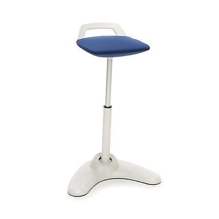 OFM Vivo Height-Adjustable Perch Stool, Blue/Cream