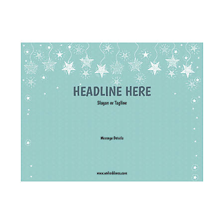 Custom Flyer, Horizontal, Stars