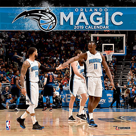 "Turner Sports Monthly Wall Calendar, 12"" x 12"", Orlando Magic, January to December 2019"