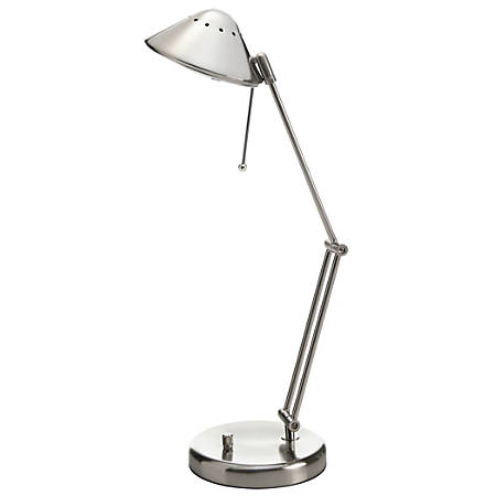 "Realspace™ Contemporary Articulated Desk Lamp, 23""H, Brushed Steel"