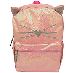 Meow Glitter Cat Backpack Pink