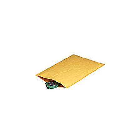 """Office Depot® Brand Kraft Heat-Seal Bubble Mailers, #1, 7 1/4"""" x 12"""", Pack Of 100"""