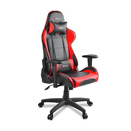 Arozzi Verona V2 Faux Leather High-Back Chair, Black/Red/Black