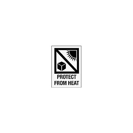 "Tape Logic® Preprinted International Safe-Handling Labels, IPM304, ""Protect From Heat,"" 3"" x 4"", Red, Pack Of 500"