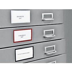 Unique Drawer Label Holders for File Cabinets