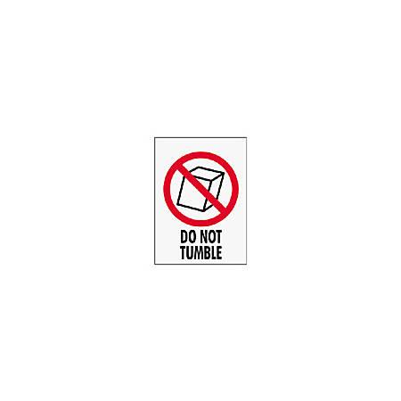 "Tape Logic® Preprinted International Safe-Handling Labels, IPM311, ""Do Not Tumble,"" 3"" x 4"", Red, Pack Of 500"
