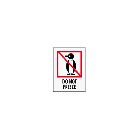 "Tape Logic® Preprinted International Safe-Handling Labels, IPM316, ""Do Not Freeze,"" 3"" x 4"", Red, Pack Of 500"