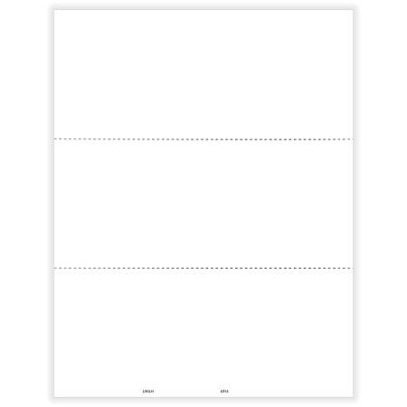 """ComplyRight™ 1099/W-2 Blank Tax Forms, Laser Cut, 3-Up Horizontal, 8-1/2"""" x 11"""", Pack Of 50 Forms"""