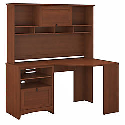 Bush Furniture Buena Vista Corner Desk With Hutch Serene Cherry Standard  Delivery By Office Depot U0026 OfficeMax