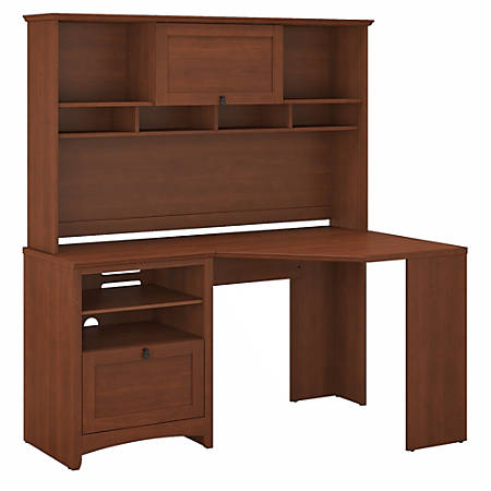 Bush Furniture Buena Vista Corner Desk With Hutch, Serene Cherry, Standard Delivery