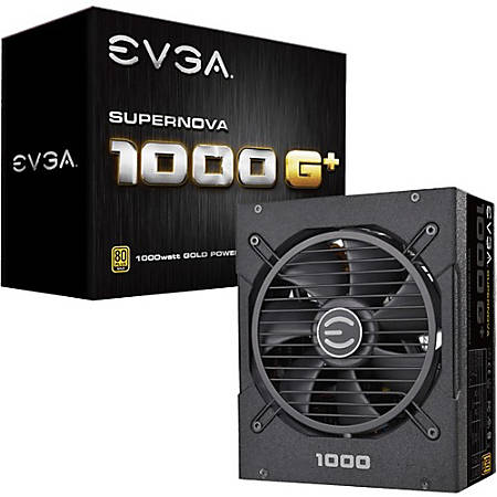 EVGA SuperNOVA 1000 G1+ Power Supply - Internal - 120 V AC, 230 V AC Input - 1000 W / 3.3 V DC, 5 V DC, 12 V DC, 12 V DC, 5 V - 1 +12V Rails - 1 Fan(s) - ATI CrossFire Supported - NVIDIA SLI Supported - 90% Efficiency