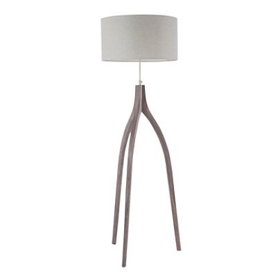 Lumisource Wishbone Contemporary Floor Lamp Wood Light Grey Item 6883975