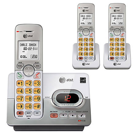 AT&T EL52303 DECT 6.0 Expandable Cordless Phone System With Digital Answering Machine